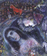 Marc Chagall, Circus With Red Horse, 1968